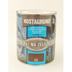 HOSTAGRUND S 2160 farba na železo 2v1 0243 hnedá 0,6 l