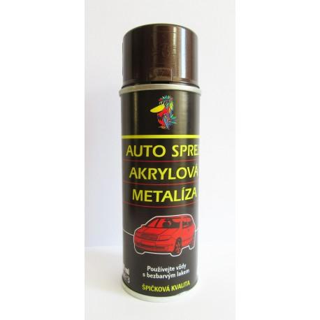 Sprej autolak ŠKODA 9896 hnedá amber metalíza 200 ml