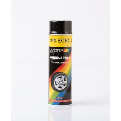 MoTip lesklý čierny sprej na disky 500 ml